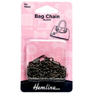 Hemline 120cm bag chain - black