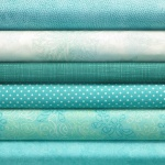 Aqua colour coordinates 6 fat quarter pack