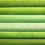 Green colour coordinates 6 fat quarter pack
