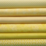 Yellow colour coordinates 6 fat quarter pack