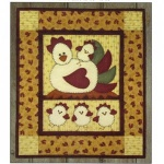 Chicken Coop wallhanging quilt kit (13inch x 15inch)