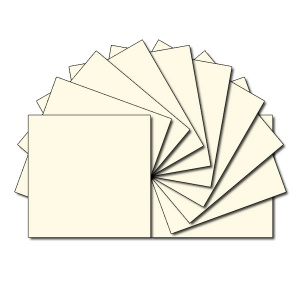Square fabric charm packs - plain cream