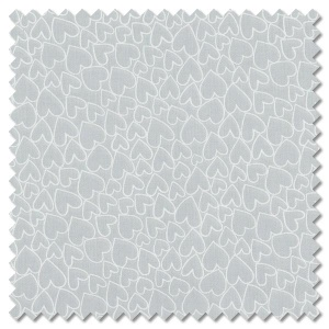 Essentials - pewter hearts (per 1/4 metre)