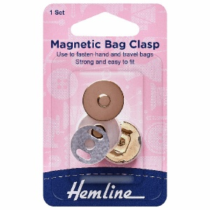 18mm magnetic snap closure - gold