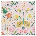 Hedgerow - butterflies pink (per 1/4 metre)