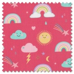 Hello Sunshine - rainbows posie (per 1/4 metre)