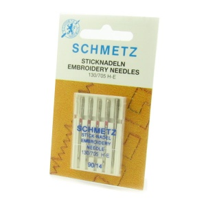 Schmetz embroidery sewing machine needles - size 90/14