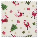 Let it Snow - Santa cream (per 1/4 metre)