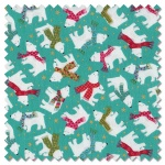 Let it Snow - polar bears turquoise (per 1/4 metre)