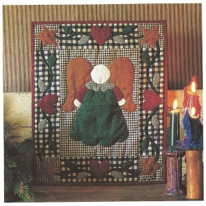 Little Angel wallhanging quilt kit (13inch x 15inch)