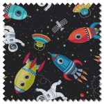 Outer Space - scene black (per 1/4 metre)