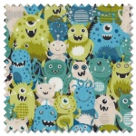 Outer Space - aliens green (per 1/4 metre)
