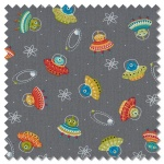 Outer Space - scatter grey (per 1/4 metre)