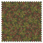 Poinsettias and Pine - holly berries evergreen (per 1/4 metre)