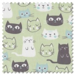 Purrfect Day - main green (per 1/4 metre)