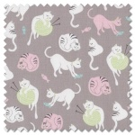 Purrfect Day - yarn grey (per 1/4 metre)