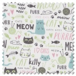 Purrfect Day - text white (per 1/4 metre)