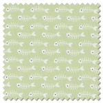 Purrfect Day - fishbones green (per 1/4 metre)
