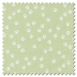 Purrfect Day - paws green (per 1/4 metre)