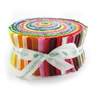 Plain patchwork fabric large 45 strip roll