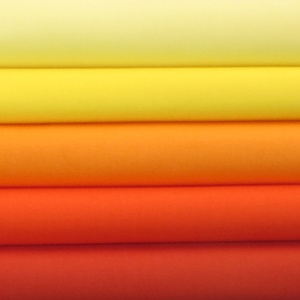 Solids oranges & yellows 5 fat quarter pack