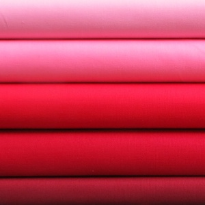 Solids reds & pinks 5 fat quarter pack