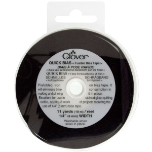 Clover Quick Bias fusible bias tape - 6mm, black