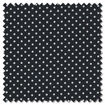 Sevenberry Black & White - white spot on black (per 1/4 metre)