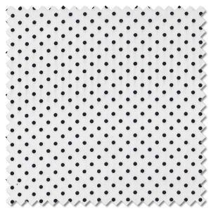 Sevenberry Black & White - black spot on white (per 1/4 metre)