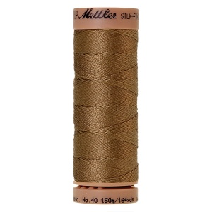 0287 - Dark tan Mettler Silk Finish 40 quilting thread 150m