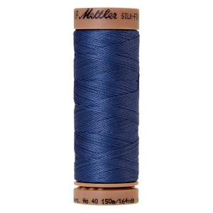 0815 - Cobalt blue Mettler Silk Finish 40 quilting thread 150m