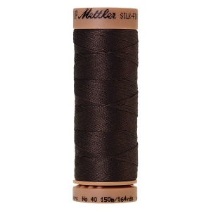 1382 - Black peppercorn Mettler Silk Finish 40 quilting thread 150m