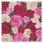 Summer Garden - rose bouquet red (per 1/4 metre)