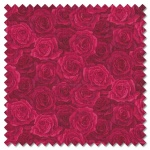 Summer Garden - packed rose red (per 1/4 metre)