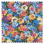 Summer Garden - pansies blue (per 1/4 metre)