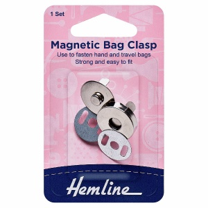 18mm magnetic snap closure - silver