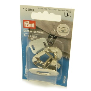 Prym  silver turn clasp bag fastener