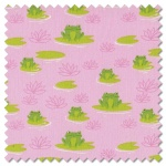 Sunday Picnic - here froggy frog pink (per 1/4 metre)