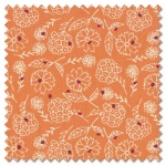 Sunday Picnic - hey lady orange (per 1/4 metre)