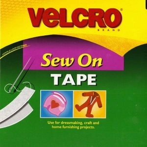 White Velcro (hook and loop tape) by the half metre