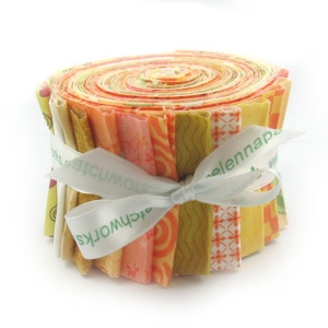 Yellow and orange prints strip roll
