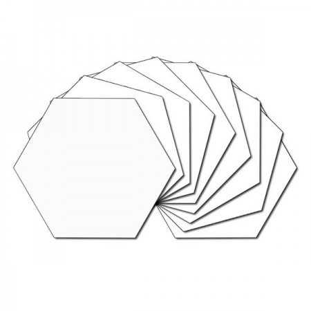 Hexagon fabric charm packs - plain white